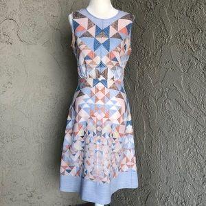 BCBG Retro Quilt Printed A Line Tank Dress